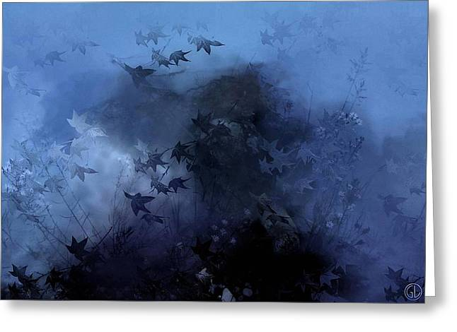 October Blues Greeting Card by Gun Legler