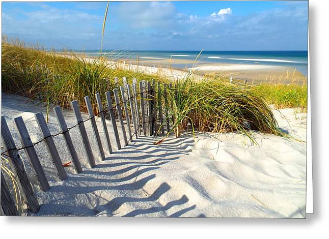 Mayflower Beach Greeting Cards - October Beach Greeting Card by Dianne Cowen