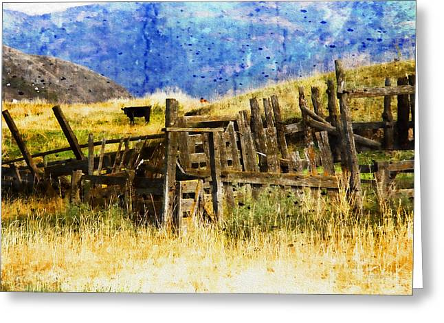 Shack Greeting Cards - October Day Greeting Card by Kathy Bassett