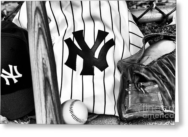 American Pastime Photographs Greeting Cards - October Dreams Greeting Card by John Rizzuto