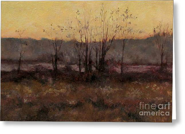 October Dusk Greeting Card by Gregory Arnett