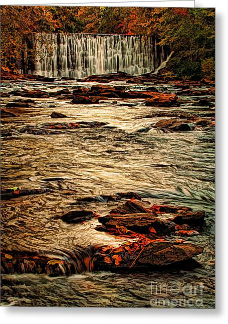 Fresh Green Greeting Cards - October Falls Greeting Card by Darren Fisher