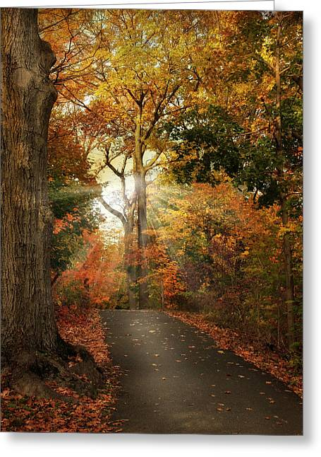 Recently Sold -  - Nature Greeting Cards - October Finale Greeting Card by Jessica Jenney