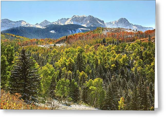 Elevation Digital Art Greeting Cards - October in the San Juans Greeting Card by Brett Pfister