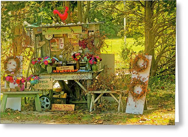 Farm Stand Greeting Cards - October Is Bittersweet Time On Cape Cod Greeting Card by Constantine Gregory