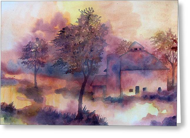 Indiana Autumn Paintings Greeting Cards - October Greeting Card by James Huntley