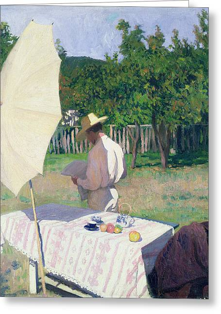 Orchard Greeting Cards - October Greeting Card by Karoly Ferenczy