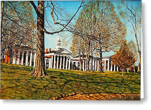 Recently Sold -  - Civil Greeting Cards - October Lawn Greeting Card by Thomas Akers