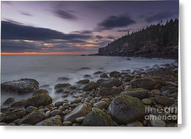 Acadia National Park Photographs Greeting Cards - October Morning Greeting Card by Marco Crupi