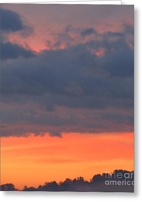 Tangerine Greeting Cards - October Morning Sky Greeting Card by Anita Adams