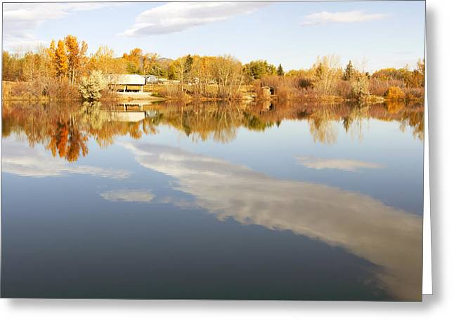 October Reflections Greeting Card by Dana Moyer