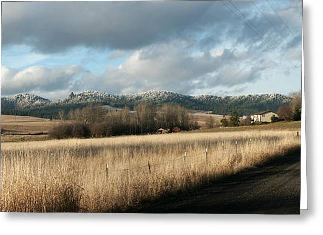 Spokane Greeting Cards - October Road Greeting Card by Paul  Griffin
