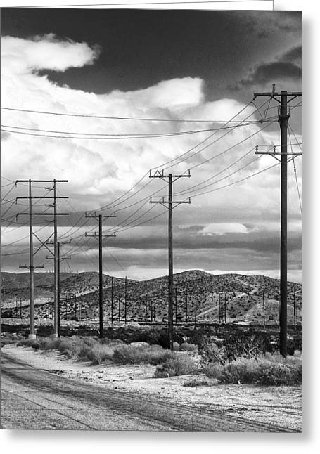 Storm Prints Greeting Cards - OCTOBER ROAD Palm Springs Greeting Card by William Dey
