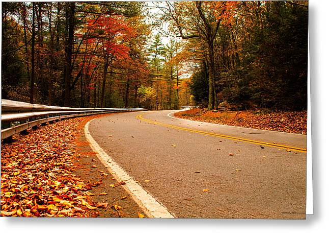 Jahred Allen Photography Greeting Cards - October Road With WATERMARK Greeting Card by Jahred Allen