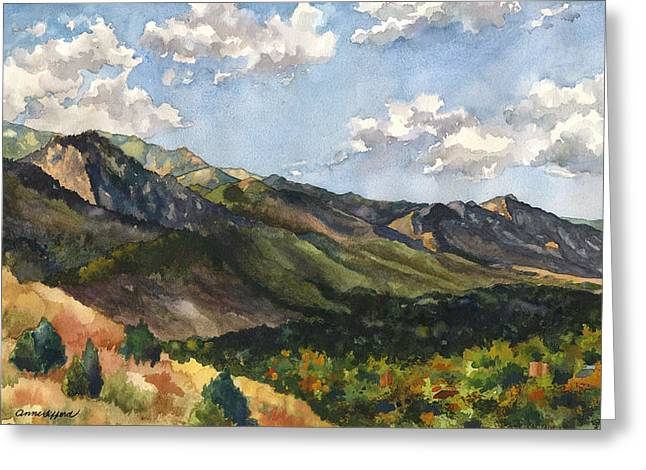 Front Range Greeting Cards - October Shadows Greeting Card by Anne Gifford