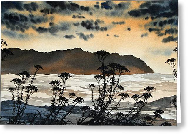 Landscape Framed Prints Greeting Cards - October Shore Greeting Card by James Williamson