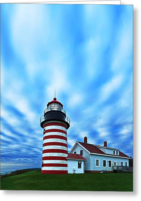 Quoddy Greeting Cards - October Sky at Quoddy Head Greeting Card by Bill Caldwell -        ABeautifulSky Photography