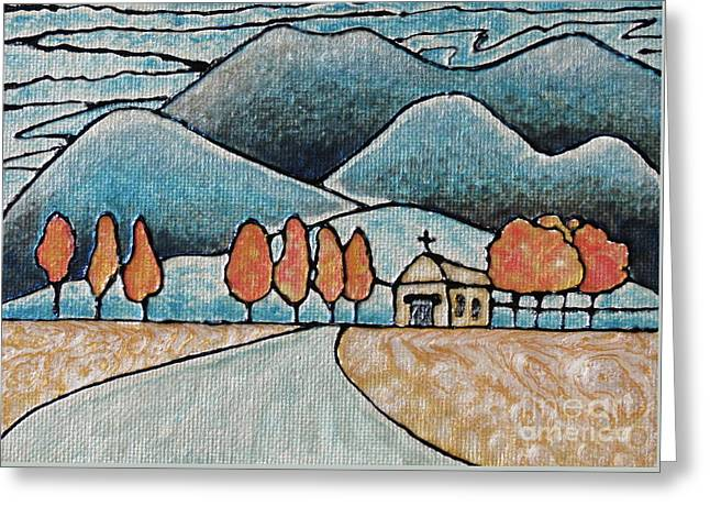 Fall Scenes Greeting Cards - October Snow Greeting Card by Aimee Mouw