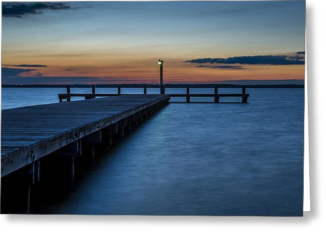 Bathroom Prints Greeting Cards - October Sunset Lavallette NJ Greeting Card by Terry DeLuco