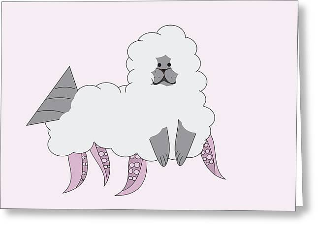 Pare Digital Art Greeting Cards - Octopus seal sheep Greeting Card by Leonardo  Garcia