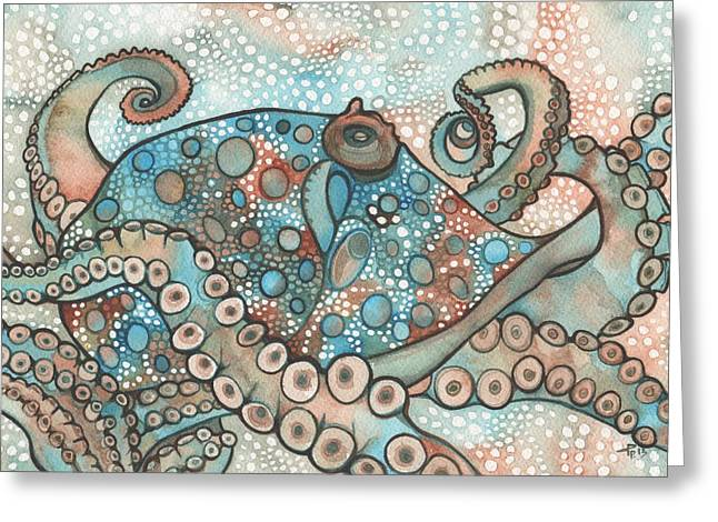 Jellyfish Greeting Cards - Octopus Greeting Card by Tamara Phillips