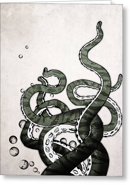 Tentacle Greeting Cards - Octopus Tentacles Greeting Card by Nicklas Gustafsson