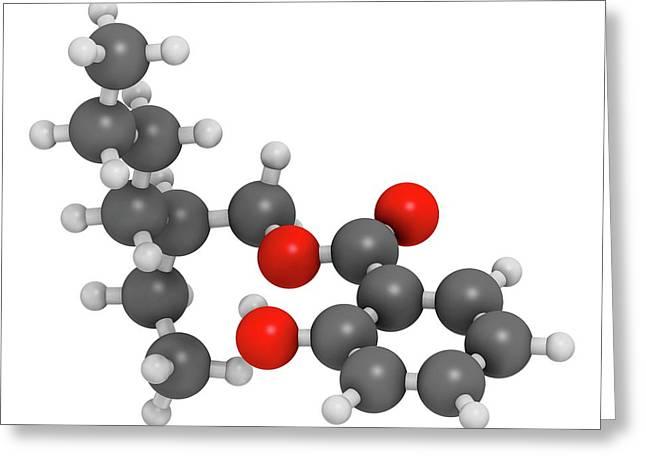 Octyl Salicylate Sunscreen Molecule Greeting Card by Molekuul