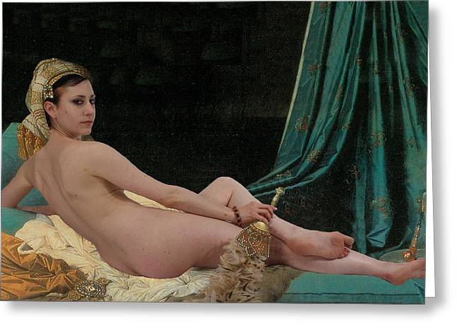 Odalisque Photographs Greeting Cards - Odalisque Greeting Card by Don McCunn