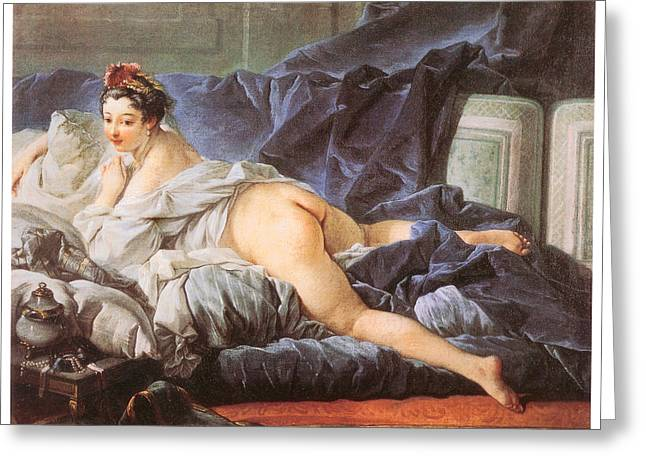 Francois Boucher Greeting Cards - Odalisque Greeting Card by Francois Boucher