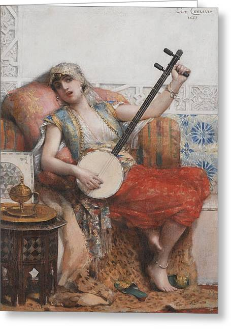 Francois Greeting Cards - Odalisque Greeting Card by Leon Francois Comerre