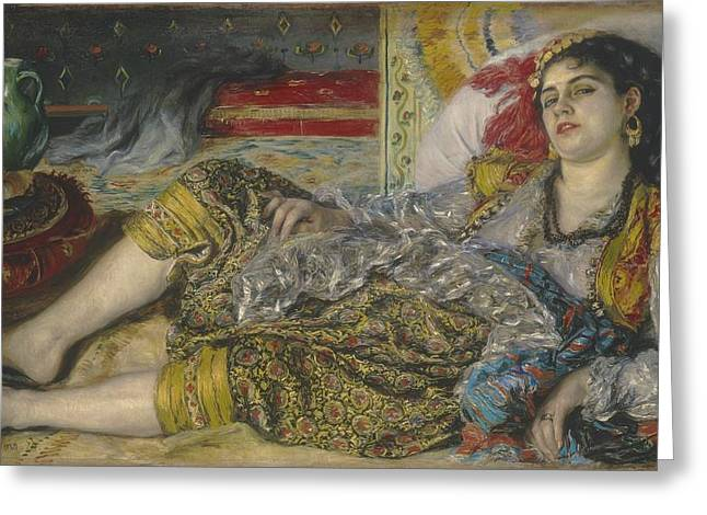 North African Greeting Cards - Odalisque Greeting Card by Pierre Auguste Renoir