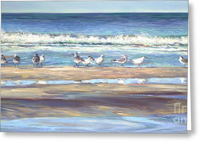 Seabirds Greeting Cards - Odd Man Out Greeting Card by Laurie Hein