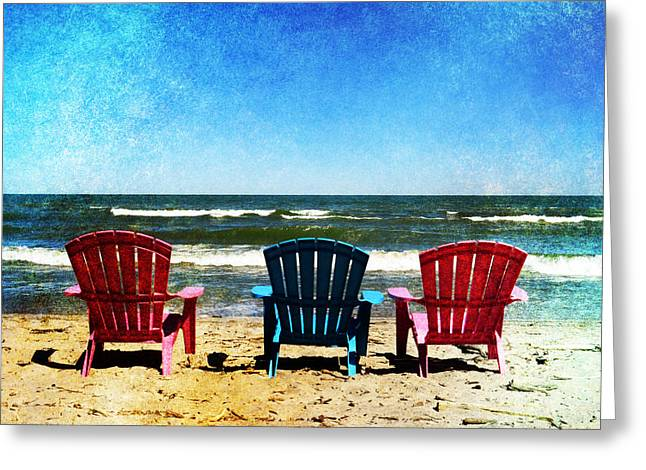 Lawn Chair Digital Greeting Cards - Odd Man Out Greeting Card by Shawna  Rowe