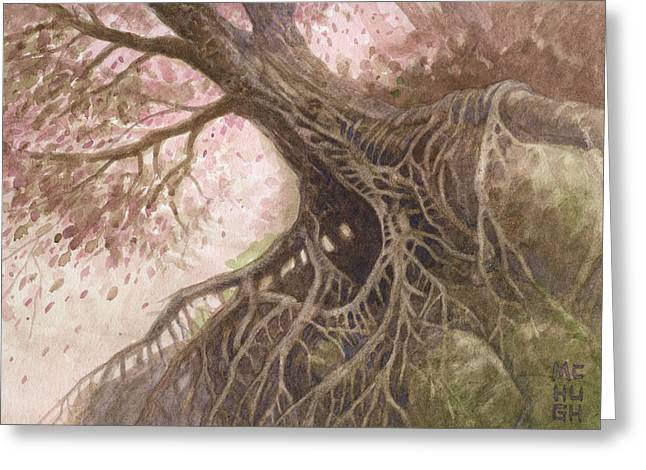 Tree Roots Paintings Greeting Cards - Odd Nut Greeting Card by Jeremy McHugh