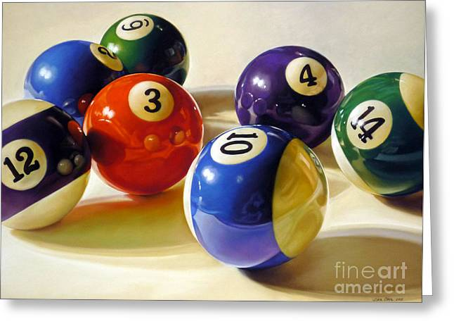 Game Pastels Greeting Cards - Oddball Greeting Card by Lisa  Ober