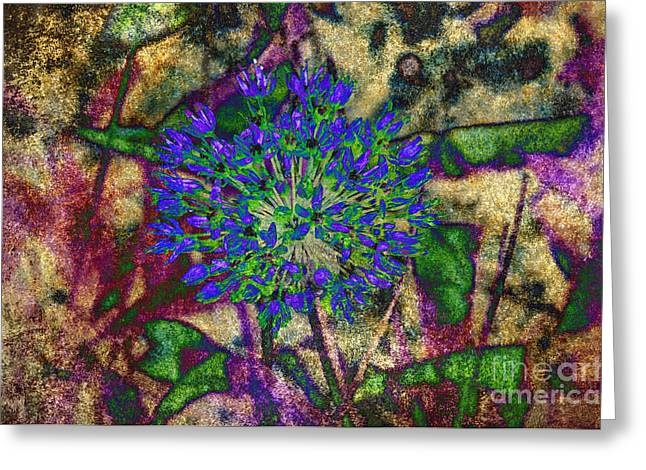 Flora Mixed Media Greeting Cards - Ode To A Flower The Abstract Greeting Card by Andee Design