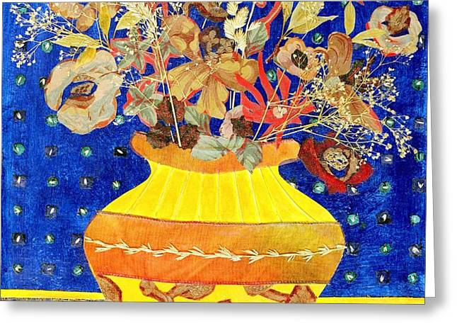 Ode to a Grecian Urn Greeting Card by Diane Fine