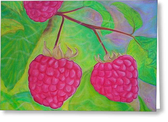 Recently Sold -  - Berry Greeting Cards - Ode to a Raspberry Greeting Card by Rachel Cruse