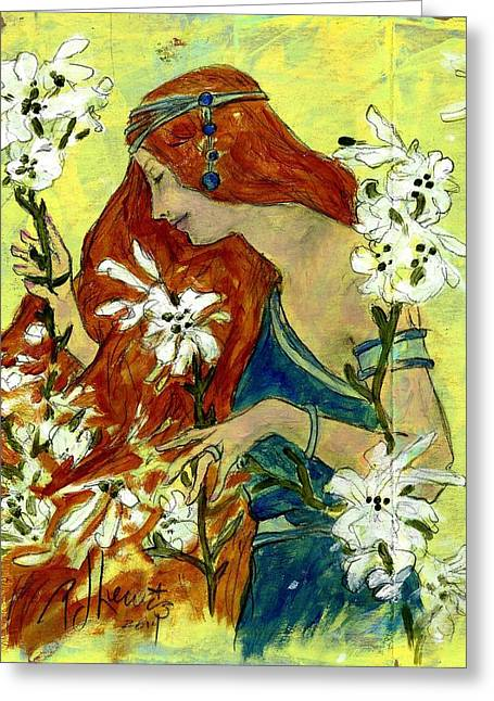 Posters Of Women Greeting Cards - Ode to Berthon Greeting Card by P J Lewis