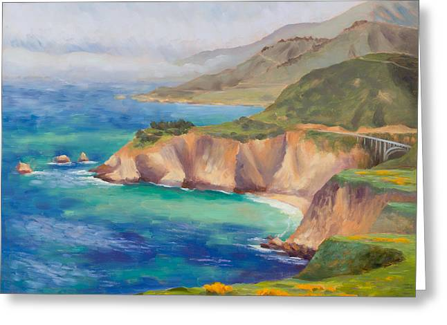 Ode To Big Sur Greeting Card by Karin  Leonard