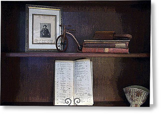 Ledger; Book Photographs Greeting Cards - Ode to Business Founder Greeting Card by William Tasker