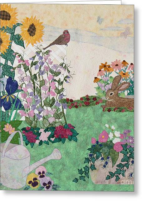 Petal Tapestries - Textiles Greeting Cards - Ode to Henry and Joys of Nature Greeting Card by Denise Hoag