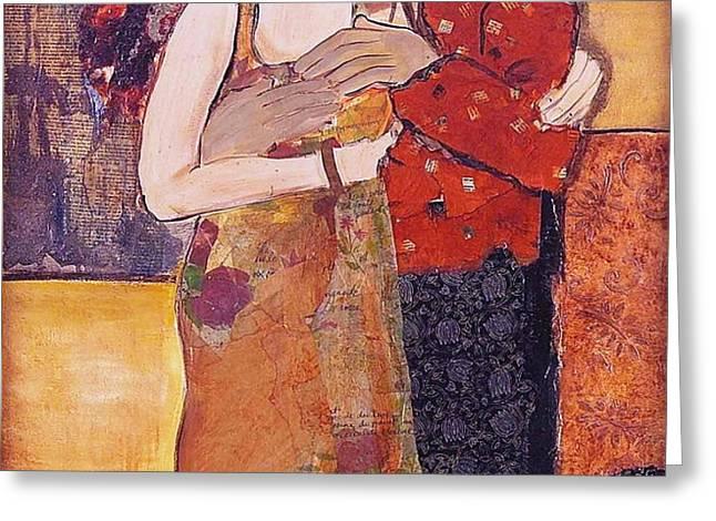 Ode to Klimt Greeting Card by Debi Starr