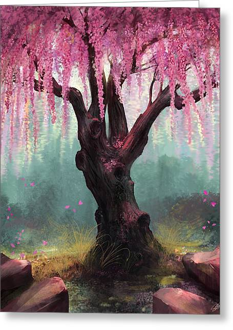Blossom Tree Greeting Cards - Ode To Spring Greeting Card by Steve Goad