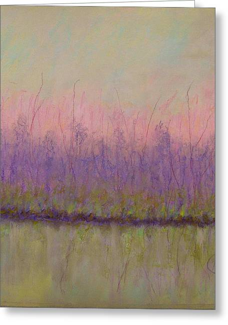 Award Winning Pastels Greeting Cards - Ode to the First Green of Spring Greeting Card by Mary Ellen Bitner
