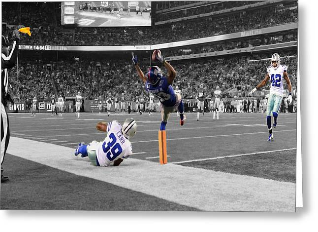 Odell Beckham Breaking The Internet Greeting Card by Brian Reaves