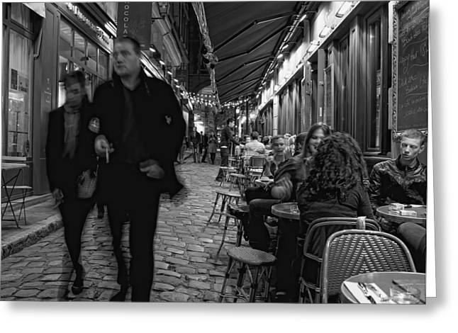Night Cafe Greeting Cards - Odeon Night - Paris Lover Photos Greeting Card by Laria Saunders