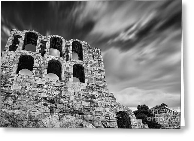 Athens Ruins Greeting Cards - Odeon of Herodes Atticus - Athens Greeting Card by Rod McLean