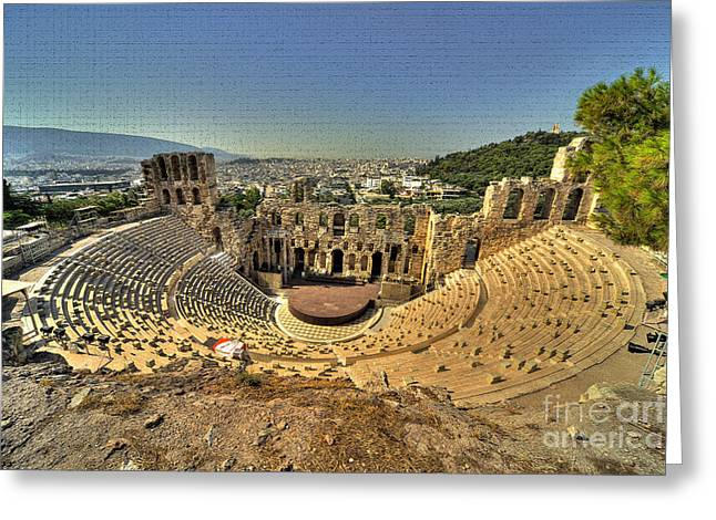 Acroplolis Greeting Cards - Odeon of Herodes Atticus Greeting Card by Rob Hawkins