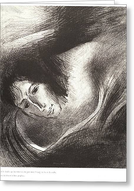 Odilon Redon French, 1840 - 1916. And The Devil That Greeting Card by Litz Collection